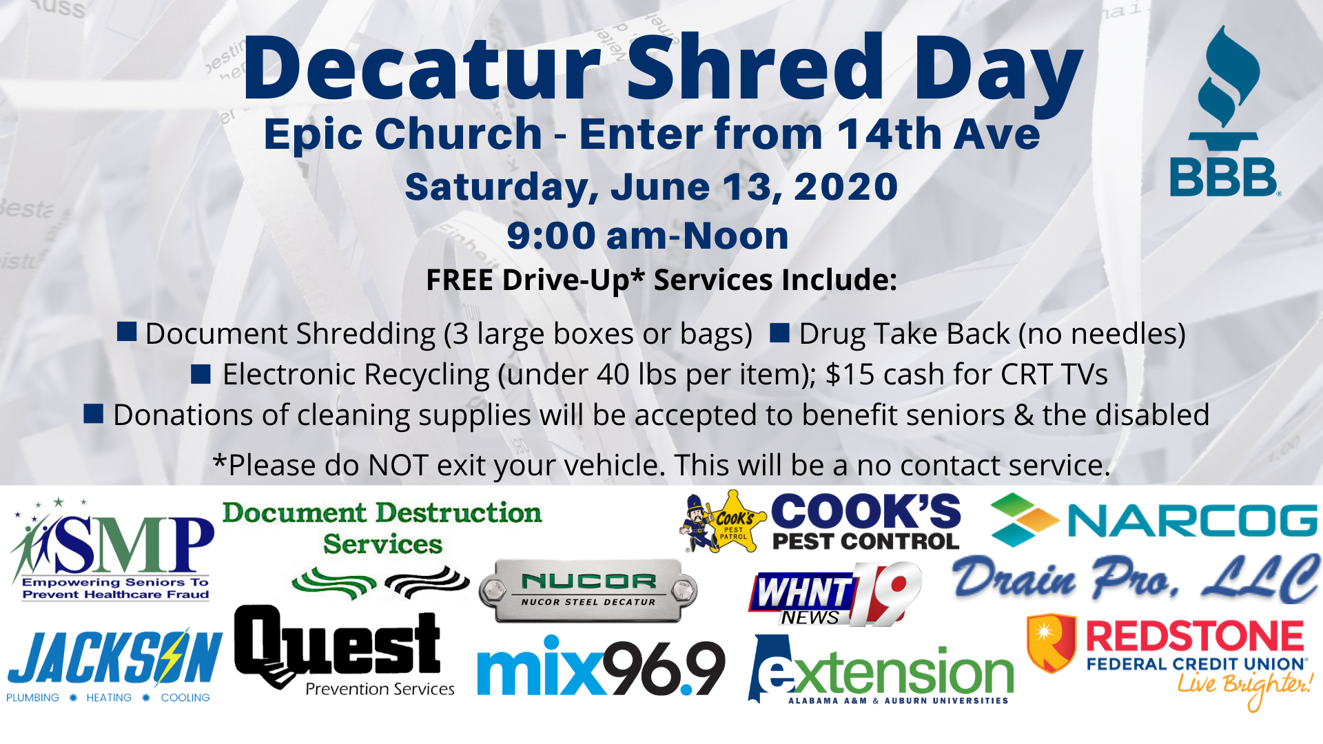 Shred Day Decatur FB graphic