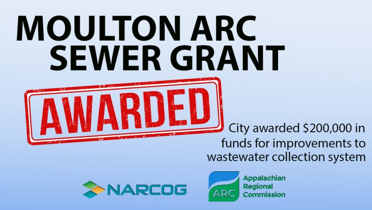 Moulton Awarded ARC Grant for Sewer Improvements